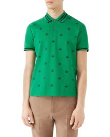 Gucci Cotton Polo w Bees  amp  Stars green at Neiman Marcus