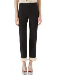 Gucci - Cady Ruffled Pants at Saks Fifth Avenue