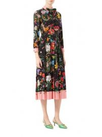 Gucci - Flora Snake Print Silk Dress at Saks Fifth Avenue