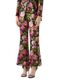 Gucci - Floral Jacquard Flare Pants at Saks Fifth Avenue