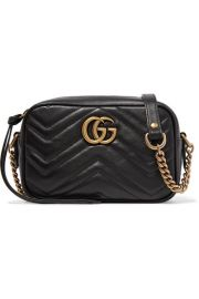 Gucci - GG Marmont Camera mini quilted leather shoulder bag at Net A Porter