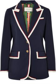 Gucci   Grosgrain-trimmed cady blazer at Net A Porter