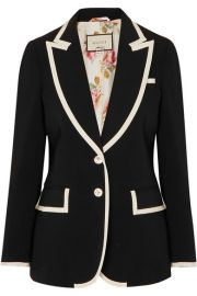 Gucci   Grosgrain-trimmed cady blazer at Net A Porter