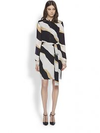 Gucci - Zebra Print Silk Georgette Shirtdress at Saks Fifth Avenue