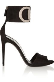 Gucci  Rooney horsebit-detailed suede sandals at Net A Porter