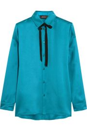 Gucci  Silk-satin blouse at Net A Porter