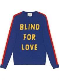 Gucci  quot Blind For Love quot  And Tiger Wool Sweater - Farfetch at Farfetch