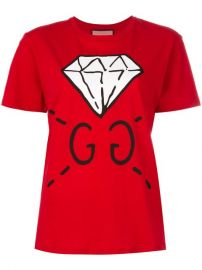 Gucci Diamond Print Logo T-shirt at Farfetch