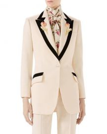Gucci Floral-Embroidered Wool Jacket   Neiman Marcus at Neiman Marcus