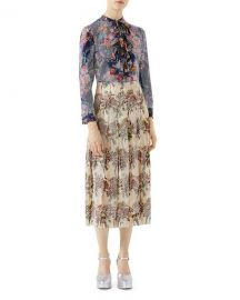 Gucci Floral-Print with Crystals Shirt   Neiman Marcus at Neiman Marcus