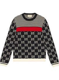 Gucci GG And Stripes Knit Sweater  - Farfetch at Farfetch