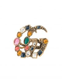 Gucci GG Crystal Embellished Ring at Farfetch
