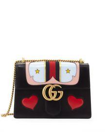 Gucci GG Marmont Medium Web Heart Shoulder Bag  Black Multi at Neiman Marcus