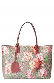 Gucci Medium GG Blooms Reversible Canvas   Leather Tote at Nordstrom