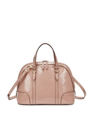 Gucci Microguccissima Patent Leather Dome Satchel Bag at Neiman Marcus