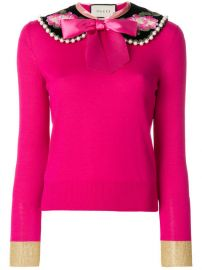 Gucci Peter Pan Collar Cashmere Sweater at Farfetch