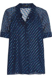 Gucci Polka-dot silk-blend chiffon blouse at Net A Porter