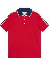 Gucci Red Gucci Stripe Polo Shirt at Farfetch