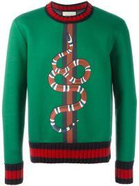 Gucci Snake Print Sweatshirt at Farfetch