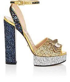 Gucci Soko Glitter Platform Sandals at Gucci