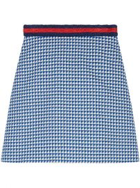Gucci Wool Skirt With Web Stripe at Farfetch