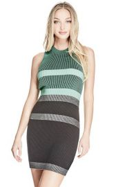 Guess Merina Plaited Stripe Dress  at Guess