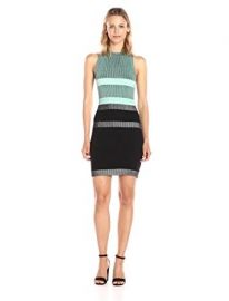 Guess Sleeveless Merina Plaited Stripe Dress at Amazon