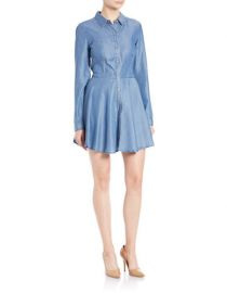 Guess Fit and Flare Chambray Shirtdress at Lord & Taylor