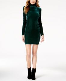 Guess Olga Velvet Turtleneck Dress at Macys