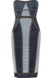 Gwyn paneled bandage dress at The Outnet