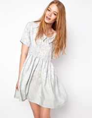 H O U S E of H A C K N E Y  HOUSE of HACKNEY Original Smock Dress in Green Dalston Candy Print at Asos
