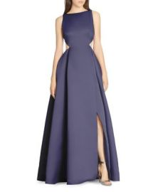 HALSTON HERITAGE Cutout Gown at Bloomingdales