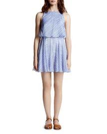 HALSTON HERITAGE Printed Chiffon Dress at Bloomingdales