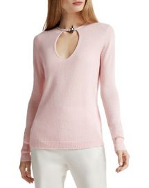 HALSTON HERITAGE Toggle Detail Cashmere Sweater at Bloomingdales