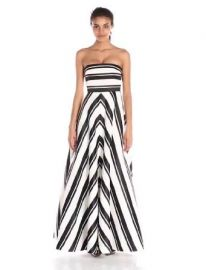 HALSTON HERITAGE Women  39 s Strapless Placement Print Structured Gown  Amazon Fashion at Amazon