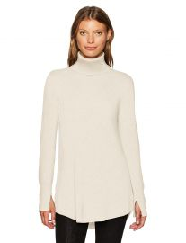 HALSTON HERITAGE Women s Long Sleeve Cowl Back Tunic Sweater at Amazon