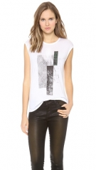 HELMUT Helmut Lang Graph Print Muscle Tee at Shopbop