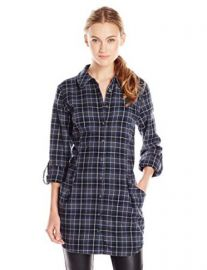HL Key Womenand39s Ethel Plaid Flannel Tunic Shirt at Amazon