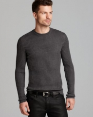 HUGO Smudon Slim Rib Sweater at Bloomingdales