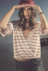 Haley striped wrap top by Blue Life at Boutique To You