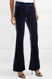 Hall velvet flared pants at Net A Porter