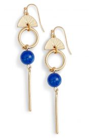 Halogen   Geo Linear Drop Earrings in Blue at Nordstrom