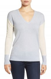 Halogen   Cashmere V-Neck Sweater  Regular   Petite at Nordstrom