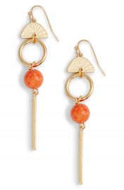 Halogen   Geo Linear Drop Earrings at Nordstrom