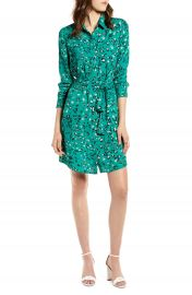 Halogen   Long Sleeve Shirtdress   Nordstrom at Nordstrom