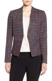 Halogen   Structured Tweed Jacket  Regular  amp  Petite at Nordstrom