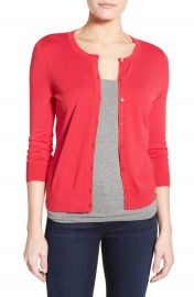 Halogen   Three Quarter Sleeve Cardigan  Regular   Petite at Nordstrom