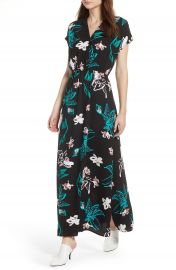 Halogen   V-Neck Maxi Dress  Regular   Petite at Nordstrom
