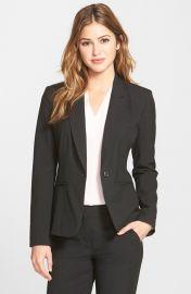 Halogen One-Button Suit Jacket Black at Nordstrom