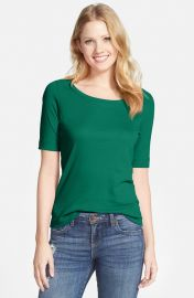 Halogenand174 Ballet Neck Tee in Green at Nordstrom